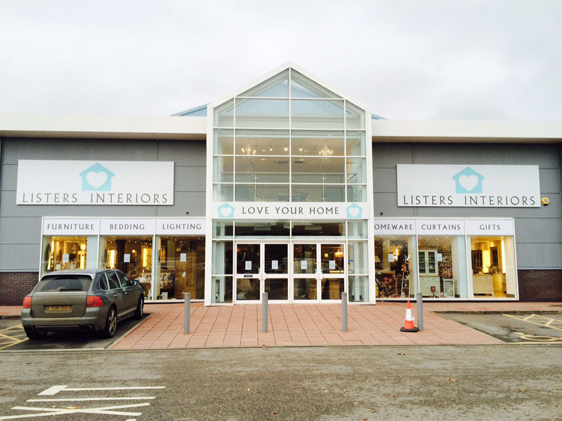 Listers Interiors Frontage